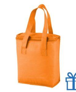 Koeltasje goedkoop oranje bedrukken