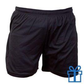 Korte broek polyester 12-14 zwart bedrukken