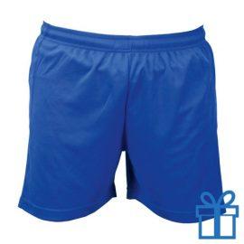 Korte broek polyester 8-10 blauw bedrukken