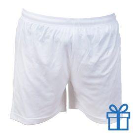 Korte broek polyester 8-10 wit bedrukken