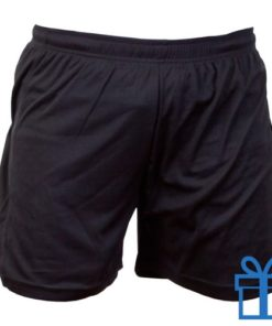Korte broek polyester 8-10 zwart bedrukken