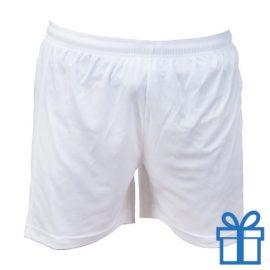 Korte broek polyester L wit bedrukken