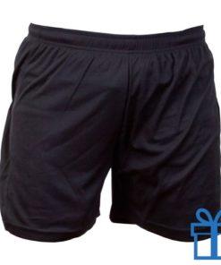 Korte broek polyester M zwart bedrukken