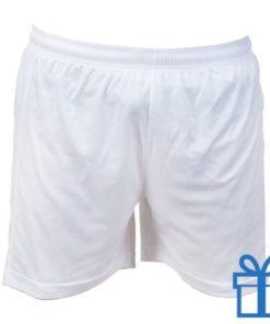 Korte broek polyester S wit bedrukken