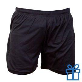 Korte broek polyester S zwart bedrukken