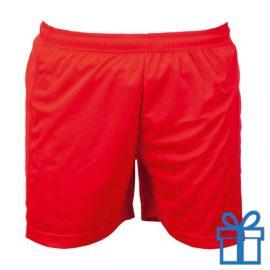 Korte broek polyester XL rood bedrukken