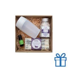 Lavendel aromatherapie geschenkset bedrukken