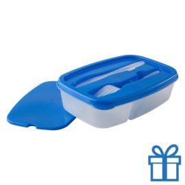 Lunchtrommel blauw bedrukken