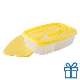Lunchtrommel geel bedrukken
