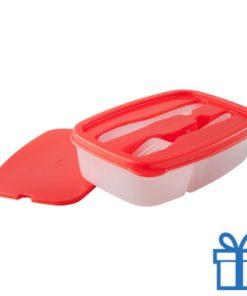 Lunchtrommel rood bedrukken