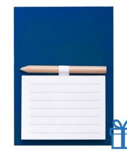 Magnetisch notitieblok koelkastmagneet blauw bedrukken