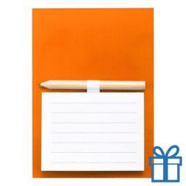 Magnetisch notitieblok koelkastmagneet oranje bedrukken