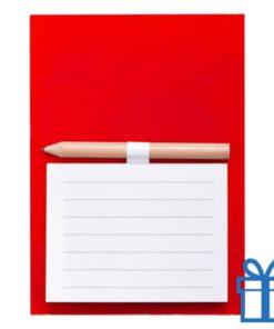 Magnetisch notitieblok koelkastmagneet rood bedrukken