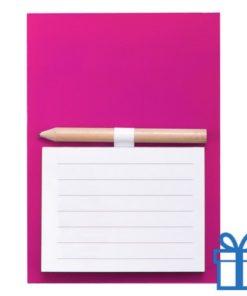 Magnetisch notitieblok koelkastmagneet roze bedrukken