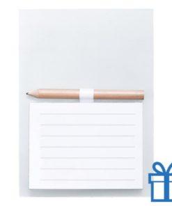 Magnetisch notitieblok koelkastmagneet wit bedrukken