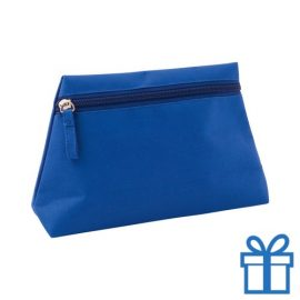 Make-up tas hip blauw bedrukken