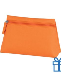 Make-up tas hip oranje bedrukken