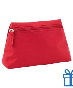 Make-up tas hip rood bedrukken