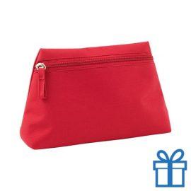 Make-up tas hip rood bedrukken