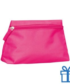 Make-up tas hip roze bedrukken
