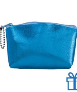 Make-up tasje PVC blauw bedrukken