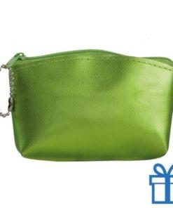 Make-up tasje PVC groen bedrukken