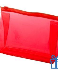Make-up tasje budget rood bedrukken