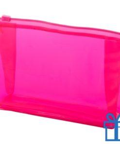 Make-up tasje budget roze bedrukken