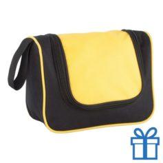 Make-up tasje transparant geel bedrukken