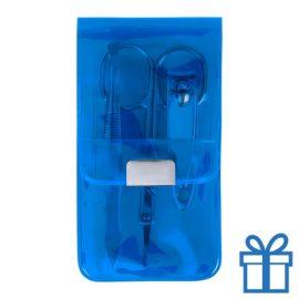 Manicure set 3-delig blauw bedrukken