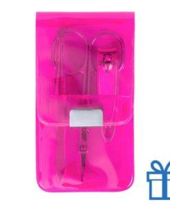 Manicure set 3-delig roze bedrukken