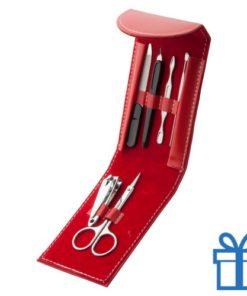 Manicure set 6-delig rood bedrukken