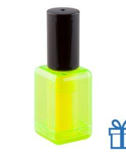 Marker naggellakvorm geel bedrukken