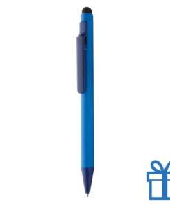 Matte balpen touchscreen blauw