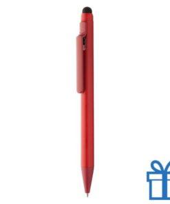 Matte balpen touchscreen rood