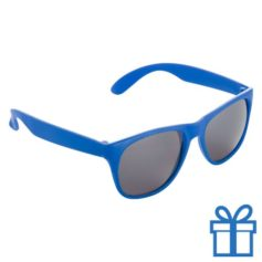 Matte zonnebril wayfarer blauw bedrukken
