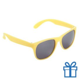 Matte zonnebril wayfarer geel bedrukken