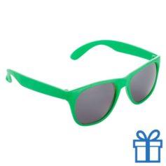 Matte zonnebril wayfarer groen bedrukken