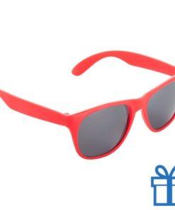 Matte zonnebril wayfarer rood bedrukken
