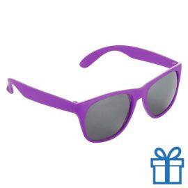 Matte zonnebril wayfarer roze bedrukken