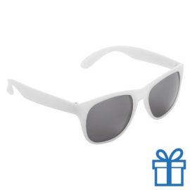 Matte zonnebril wayfarer wit bedrukken