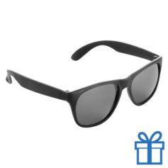 Matte zonnebril wayfarer zwart bedrukken