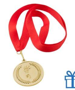 Medaille plastic op maat goud bedrukken