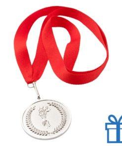 Medaille plastic op maat zilver bedrukken