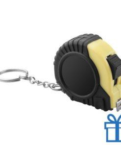 Meetlint plastic rolband geel bedrukken