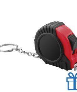 Meetlint plastic rolband rood bedrukken