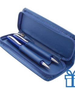 Metalen balpen plus vulpotlood blauw
