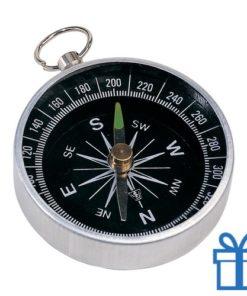 Metalen kompas sleutelring bedrukken