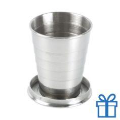 Metalen opvouwbare drinkbeker bedrukken