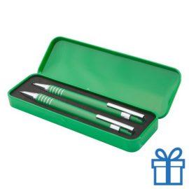Metalen pennenset vulpotlood groen